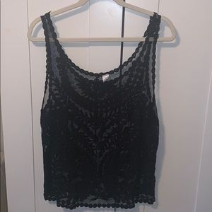 Sheer H&M embroidered tank